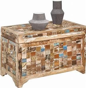 Truhe Aus Holz : home affaire truhe aus recyceltem holz kaufen otto ~ Watch28wear.com Haus und Dekorationen