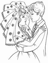 Bride Groom Coloring Pages Colouring Comments Popular Coloringhome Into Leave sketch template
