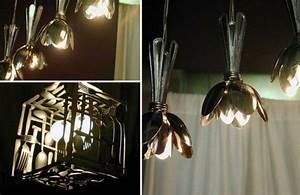 Ausgefallene Lampen Selber Bauen : die besten 25 l ffel lampe ideen auf pinterest plastikl ffel lampe recycling kunst und diy ~ Markanthonyermac.com Haus und Dekorationen
