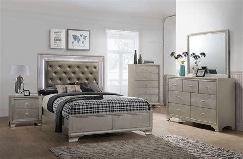 lyssa led glam bedroom furniture sets