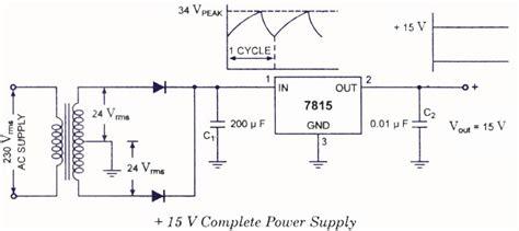 Fixed Positive Voltage Regulators Electronic Circuits