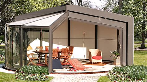 Retractable Sunroom by A Sunroom With Retractable Doors And Rotates What Magic