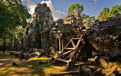 Ruins Ancient Temple Building Architecture Decay Wallpaperup