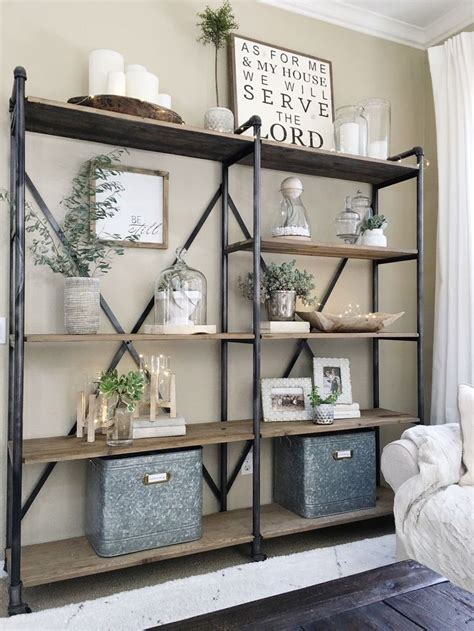 Living Room Wall Shelving Units by Best 25 Industrial Bookshelf Ideas On
