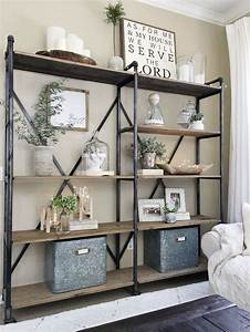 best 25 industrial bookshelf ideas on pinterest With kitchen cabinets lowes with decorative wall art for living room