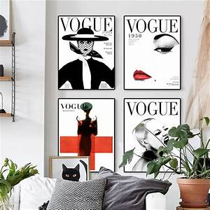 Fashion 4 Home : nordic poster modern fashion 4 piece canvas art wall portrait home decor vogue 1950 magazine ~ Orissabook.com Haus und Dekorationen