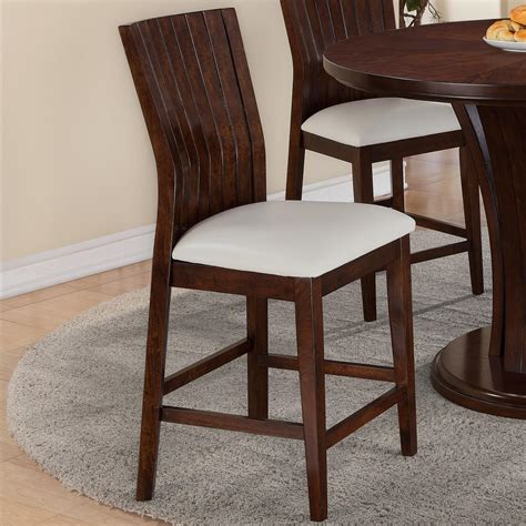 crown dining bar stool with upholstered seat
