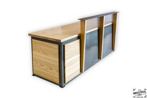 build a reception desk ash steel reception desk real industrial edge