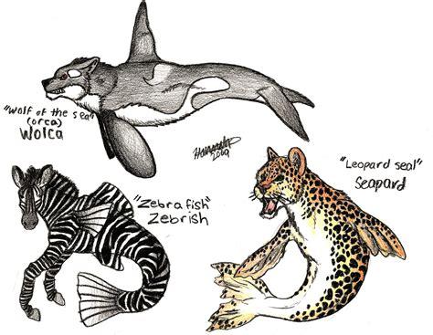 drawn creature mixed animal pencil   color drawn