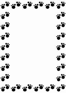 Dog Paw Border | www.imgkid.com - The Image Kid Has It!