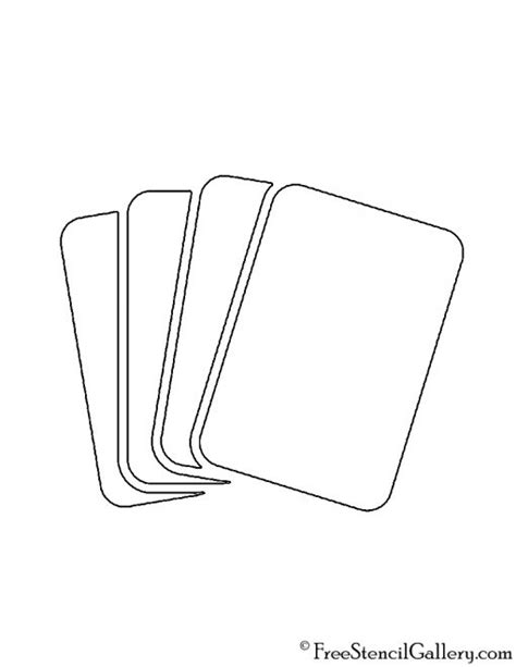 Playing Cards Stencil | Free Stencil Gallery