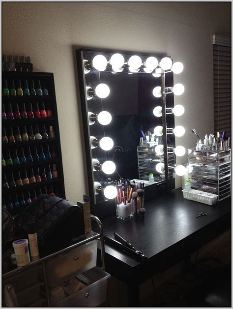 makeup desk with lights makeup desk with lights desk home design ideas