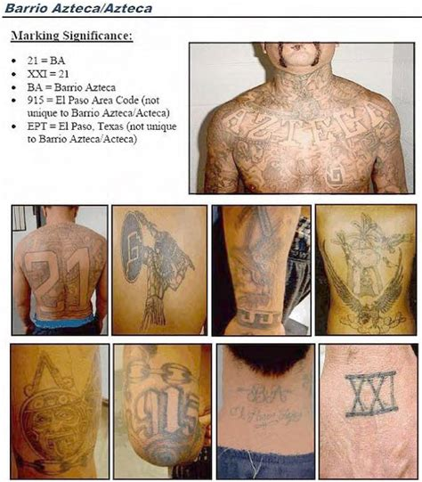 ules mexican gang tattoos identification guide
