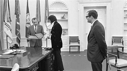 Gifs Historical History Elvis President Nixon Richard