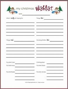 Wish Lists ~ Printables for Boys, Girls, & Everyone