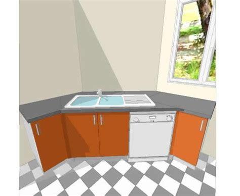 cuisine avec plaque de cuisson en angle implantation évier en angle plaque cuisson en angle armoire en angle implantation cuisine