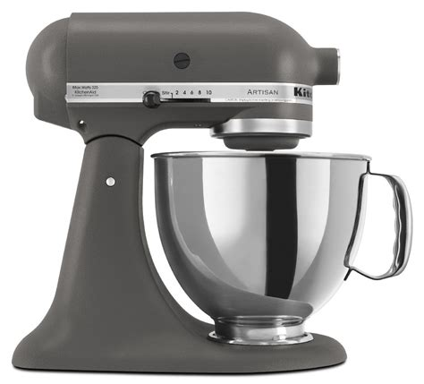 mixer kitchenaid kitchen stand artisan qt aid series mixers imperial grey quart abt refurbished gray appliances tilt head spring roll