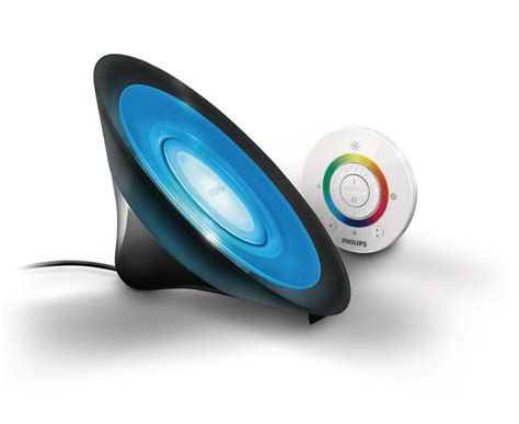 philips livingcolors led l philips livingcolors aura led colour changing table l black remote 8w ebay