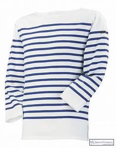 Picasso Breton Shirt for Women & Men White/Cobalt Blue