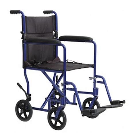 probasics aluminum transport chair wheelchair 8 quot rear