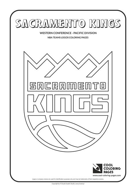 cool coloring pages sacramento kings nba basketball teams logos coloring pages cool coloring