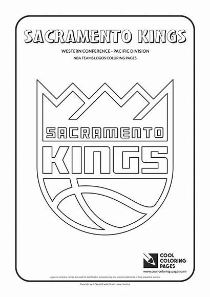 Coloring Nba Pages Kings Logos Sacramento Cool