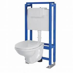 Pose Toilette Suspendu : roca pack wc complet suspendu aquart lyra achat vente ~ Melissatoandfro.com Idées de Décoration