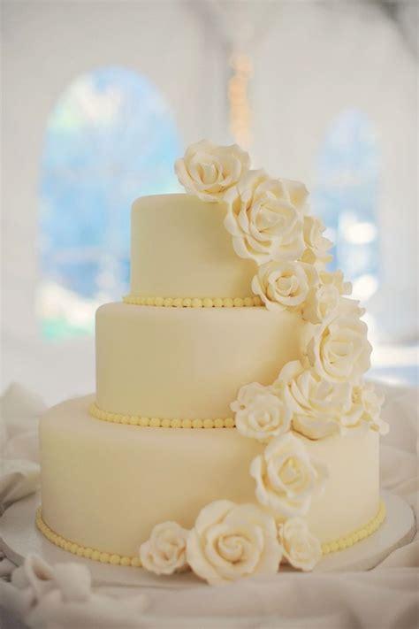 classic white wedding cake  sugar flowers  wedding