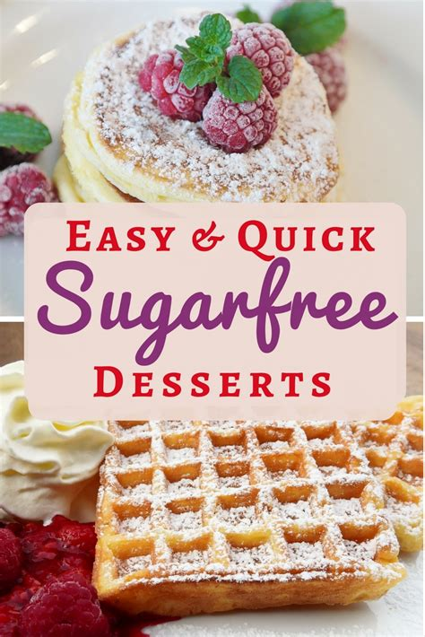 easy and simple desserts sugar free dessert recipes easy simple and delicious