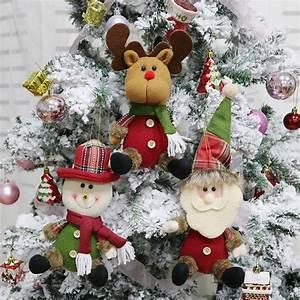 3pcs, Set, Christmas, Tree, Decorations, Ornaments, Christmas, Hanging, Toys, Santa, Reindeer, Snowman