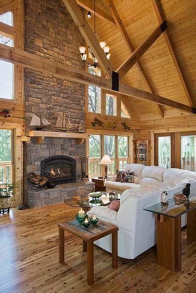 marshall lakeside log home log home living room decor