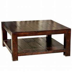 Mission Mango Wood Square Coffee Table