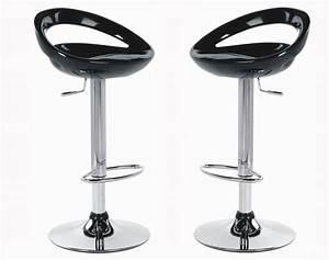 Tabouret De Bar Noir : lot 2 tabourets de bar champ noir ~ Melissatoandfro.com Idées de Décoration