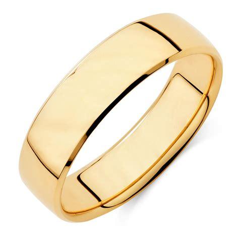 mens wedding band  ct yellow gold