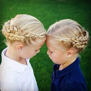 Coiffure Enfant Tresse : coiffure tresse fillette ~ Melissatoandfro.com Idées de Décoration