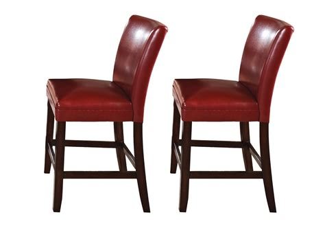 set of 2 hartford leather upholstered counter height