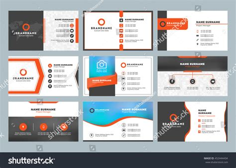 Set 9 Modern Business Card Templates Stock Vector Business Card Scanners Staples How To Send On Iphone Design Microsoft Word Psd Free Printing Paris Easy Photoshop Reader Outlook Gold