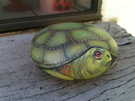 Turtle Painted On A Rock Makes A Nice T Craft Ideas