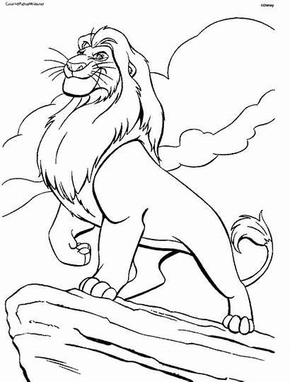 Lion King Coloring Animation Movies Printable Drawing