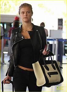 Max George & Nina Agdal: Goodbye Kiss at Barbados Airport ...