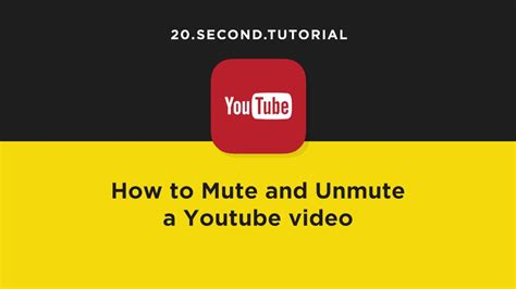 Mute and unmute a YouTube video   YouTube Tutorial #17 ...