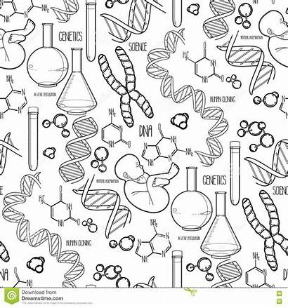 Genetic Coloring Illustrations Cartoons Science
