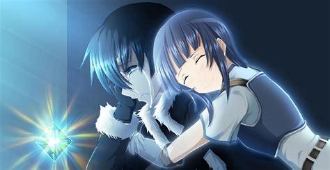 Anime Hug Wallpapers - hugging boy from anime