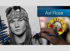 Axl Rose Dibujo a lápiz Speed Drawing YouTube