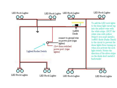 Jeep Led Light Wiring Diagram by Cheap And Easy Led Rock Lights Jk Forum The