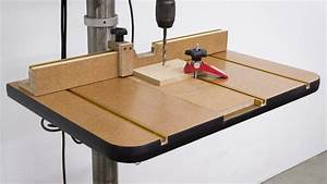 Build a Drill Press Table - YouTube