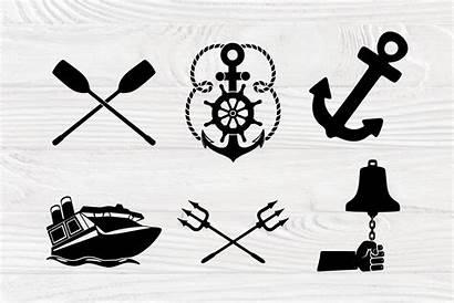 Svg Anchor Nautical Boat Clipart Bundle Cut