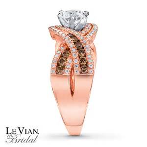 strawberry gold engagement rings le vian engagement ring chocolate diamonds 14k strawberry gold