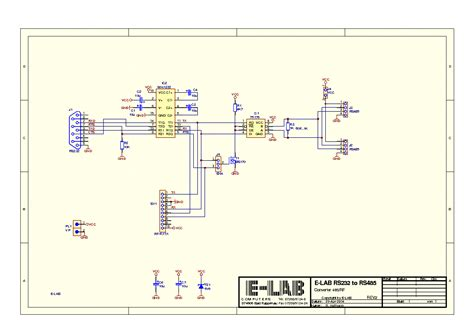 e lab rs232 to rs485 converter sch service manual schematics eeprom repair info for