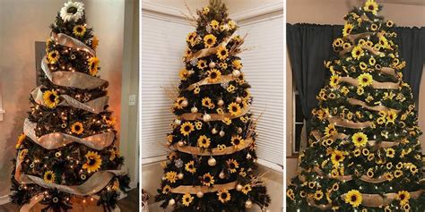 sunflower christmas tree trend brings  life